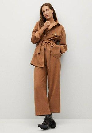 MALMO-A - Krátký kabát - braun