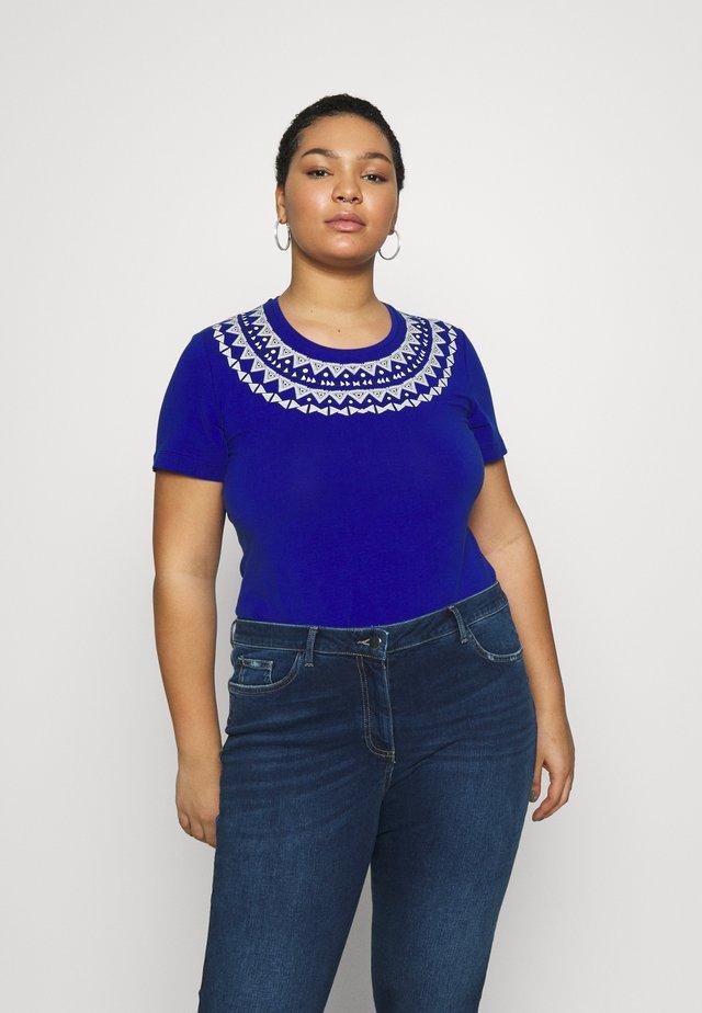 VANESIO - T-shirt imprimé - blu cina