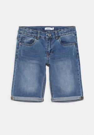 NKMSOFUS DNMTRAPPE - Denim shorts - light blue denim
