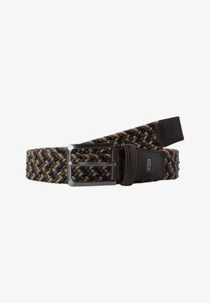 Braided belt - dark blue/green