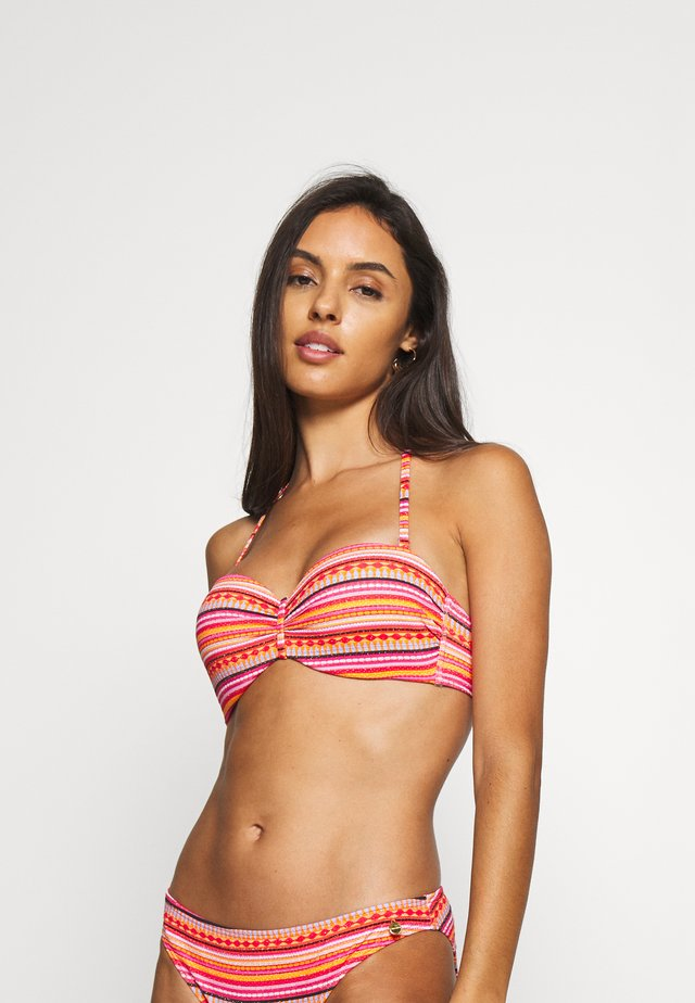 WIRE BANDEAU SET - Bikini - orange