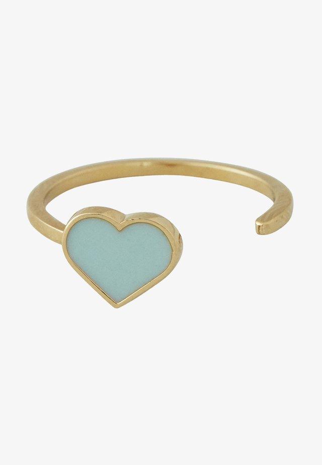 ENAMEL HEART RING - Ringe - light green