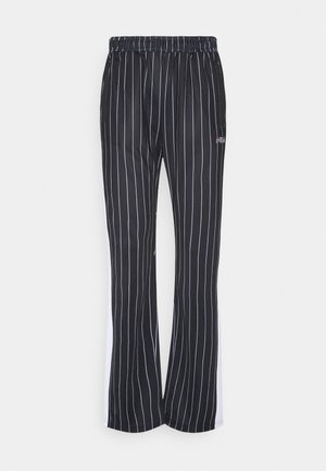 JAIMI PINSTRIPE TRACK PANTS - Pantalon de survêtement - black/bright white