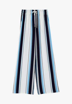 Trousers - stripes/blue