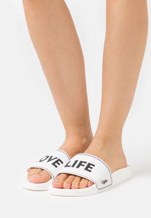 VEGAN RILEY - Sandaler - white/black