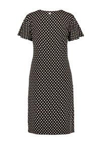 Samoon - MIT SEITLICHER DRAPIERUNG - Jersey dress - black gemustert - 1