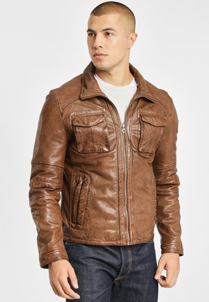 LANNY NSLV - Leather jacket - nut