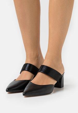 SABOT - Pantofle na podpatku - black