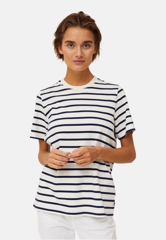 STEPHANIE  - T-shirt imprimé - blue/white stripe