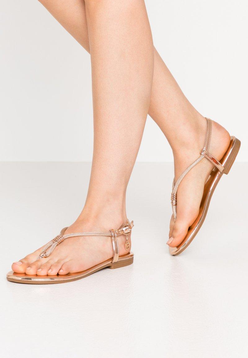 Laura Biagiotti - T-bar sandals - mirror skin