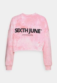 Sixth June - TIE&DYE CROPPED - Mikina - pink - 1