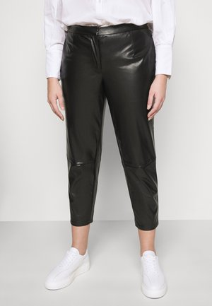 PCROOT CROPPED PANTS CURVE - Bukse - black