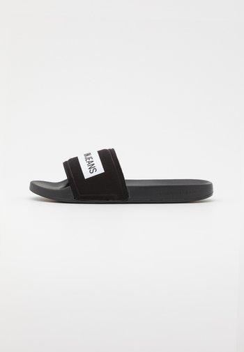 SLIDE TAPE - Mules - black