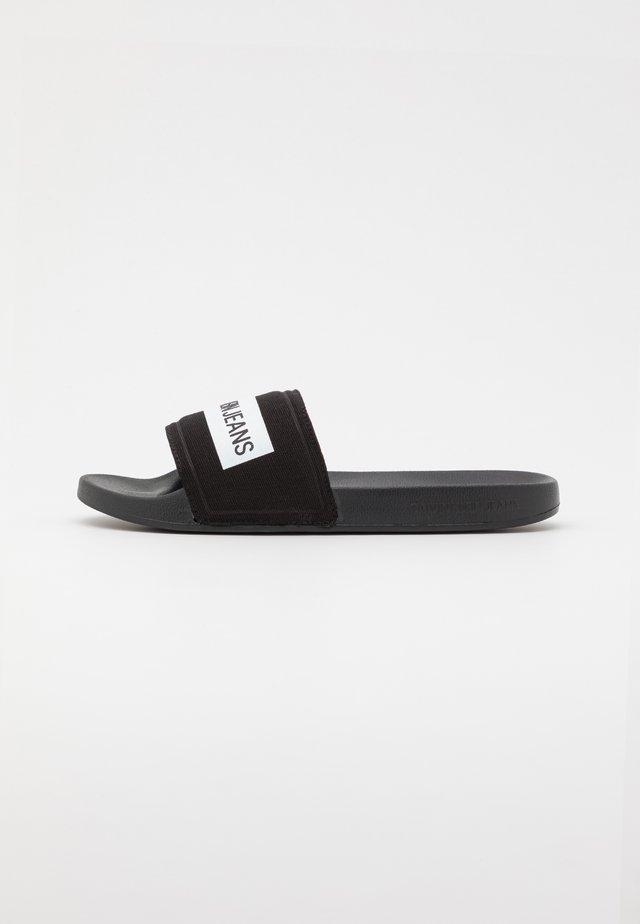 SLIDE TAPE - Pantofle - black