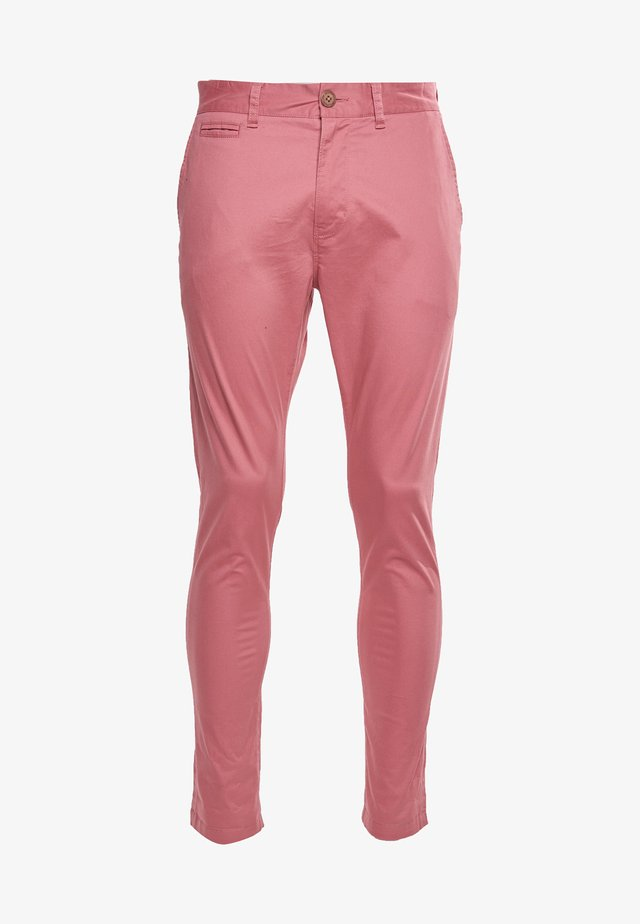 Chinos - smoked pink