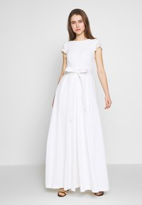 Lauren Ralph Lauren - FAILLE LONG GOWN COMBO - Occasion wear - cream - 0