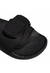 adidas Originals - ADIDAS ORIGINALS  X PHARRELL WILLIAMS BOOST SLIDES - Pool slides - black - 7