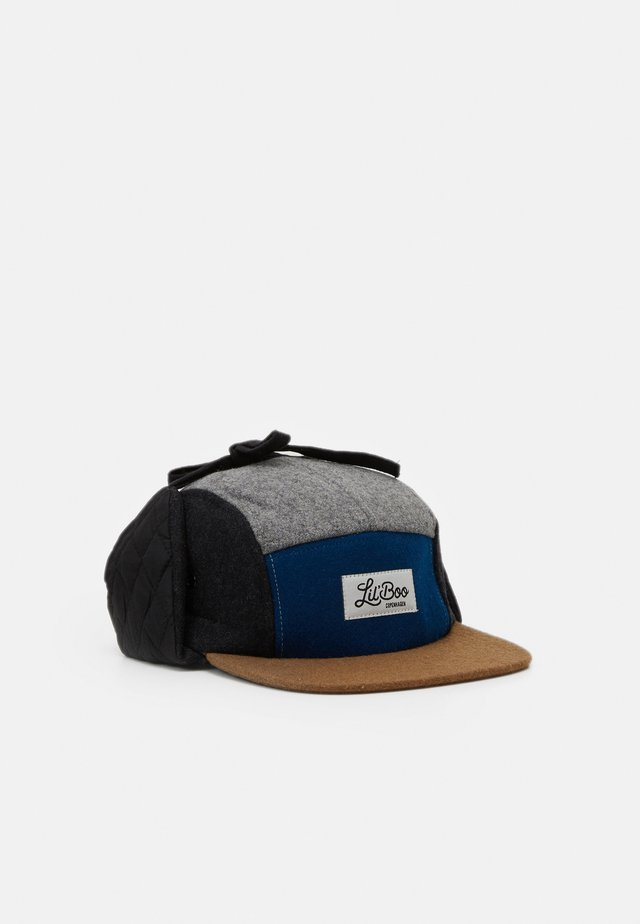 BLOCK PANEL EARS - Cappellino - blue/dark grey/brown