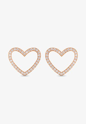 DAMEN-OHRSTECKER EDELSTAHL 64 ZIRKONIA - Earrings - rosé