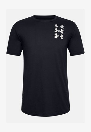 UA TRIPLE STACK  - Print T-shirt - black