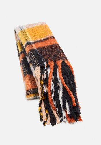 Sjal - black/orange/yellow