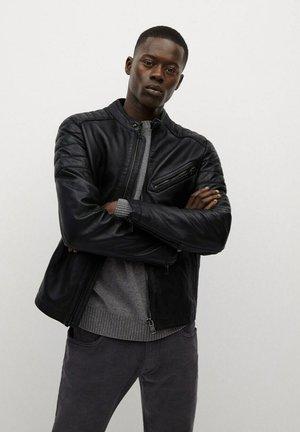 APOLLO7 - Leather jacket - schwarz
