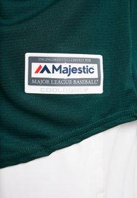 Fanatics - OAKLAND ATHLETICS MAJESTIC REPLICA COOL BASE ALTERNATE - T-shirt imprimé - green - 5