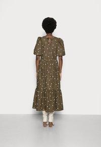 Marc O'Polo DENIM - DRESS PUFF SLEEVE - Maxi dress - multi/burnished logs - 2