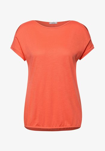 MIT U-BOOT AUSSCHNITT - Basic T-shirt - orange