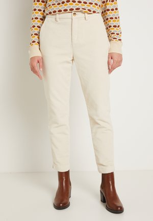 CIGARETTE CORDUROY PANTS - Trousers - soft creme beige