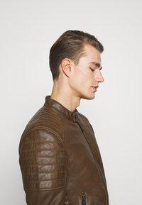 Strellson - DERRY - Leather jacket - tobacco - 3