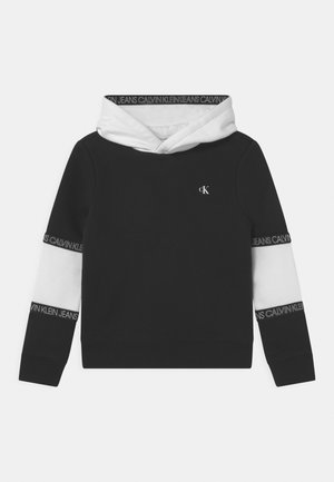 COLOURBLOCK TAPE HOODIE UNISEX - Sweatshirt - black