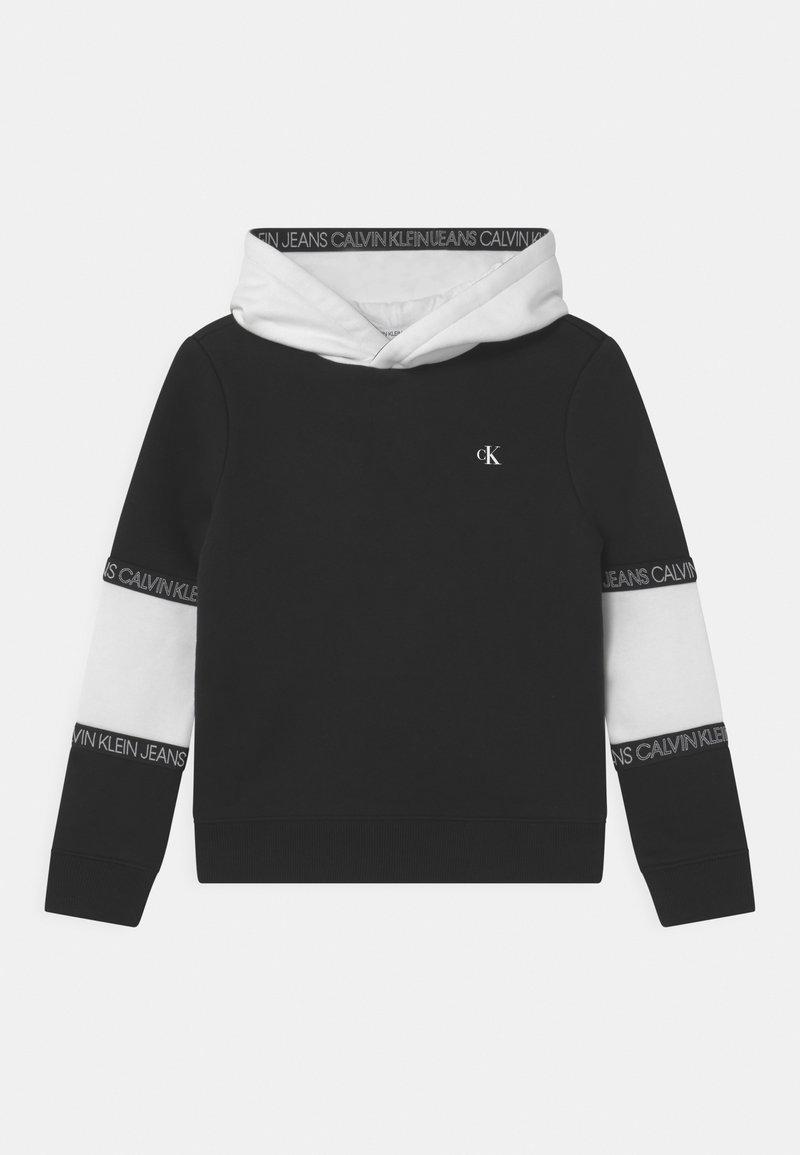 Calvin Klein Jeans - COLOURBLOCK TAPE HOODIE UNISEX - Sweatshirt - black