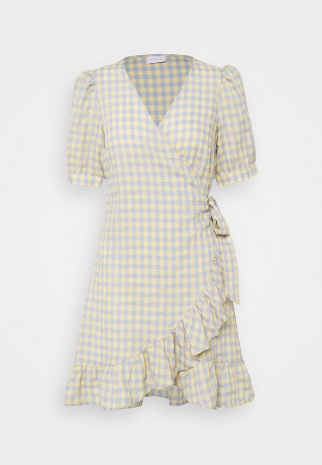 VIOLIVANA WRAP DRESS - Korte jurk - sunlight/ashley blie
