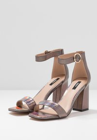 ONLY SHOES - ONLALYX - High heeled sandals - gunmetal - 4