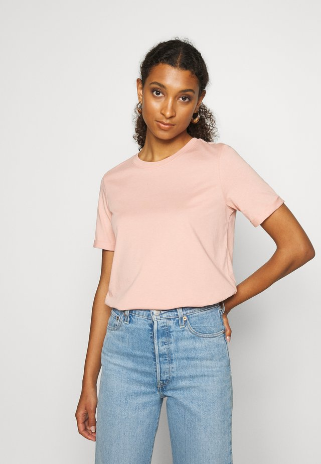 PCRIA FOLD UP TEE - T-shirts - misty rose