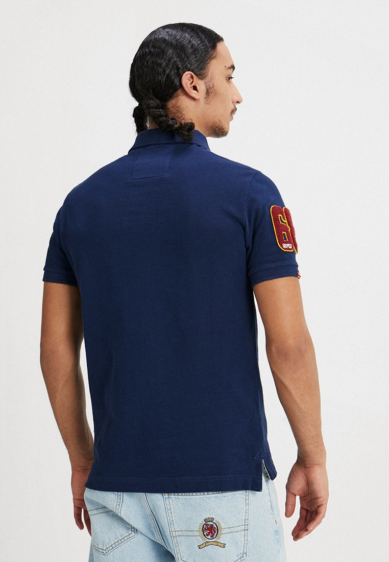 Superdry CLASSIC SUPERSTATE  - Polo - sport navy
