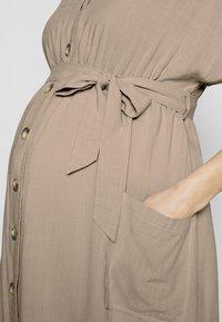 JoJo Maman Bébé - BUTTON FRONT MIDI DRESS - Shirt dress - natural - 5