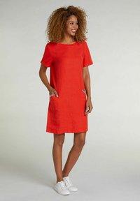 Oui - Jersey dress - fiery red - 1