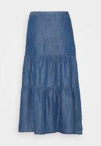 Esprit - Pleated skirt - blue medium wash - 1