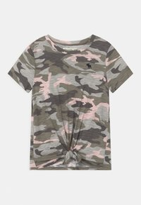Abercrombie & Fitch - TIE FRONT - Print T-shirt - green - 0