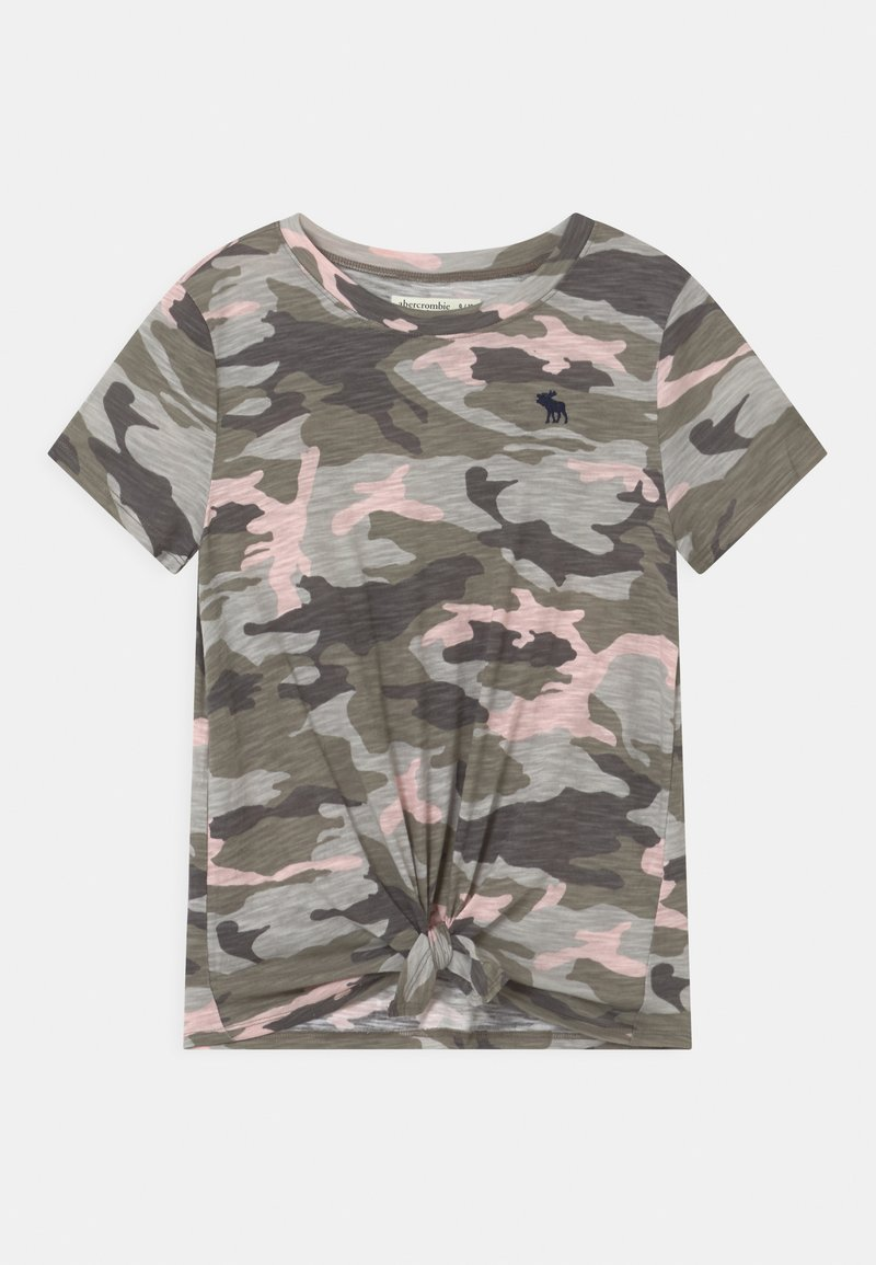 Abercrombie & Fitch - TIE FRONT - Print T-shirt - green