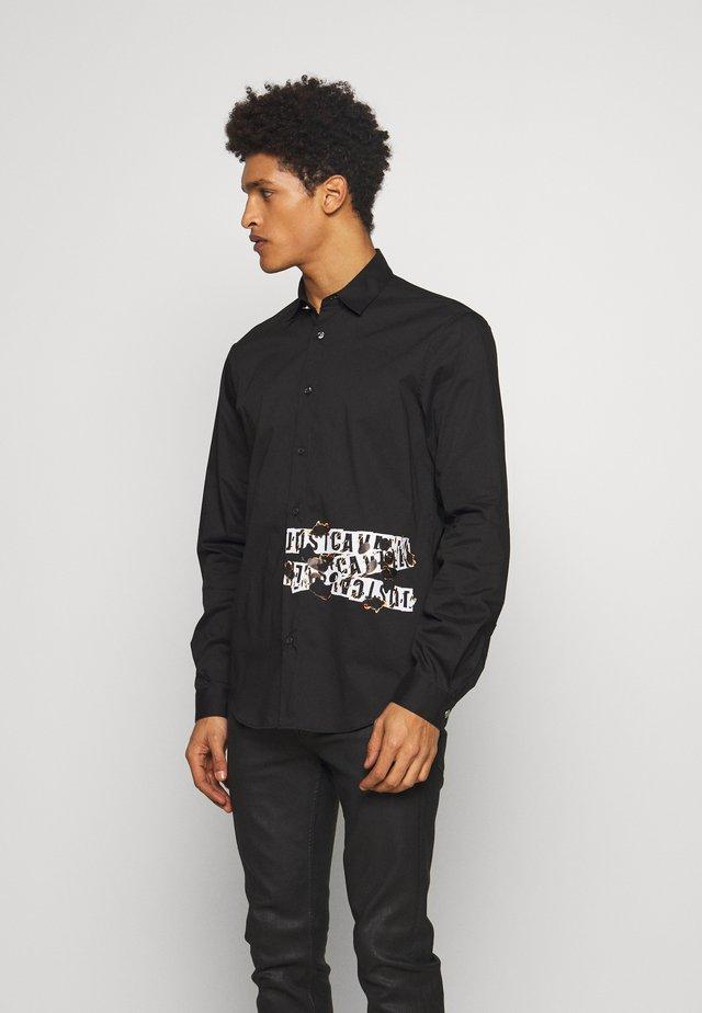 SHIRT BURN LOGO - Camicia - black