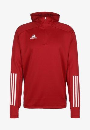 ADIDAS PERFORMANCE CONDIVO 20 KAPUZENSWEATSHIRT HERREN - Jersey con capucha - red/white