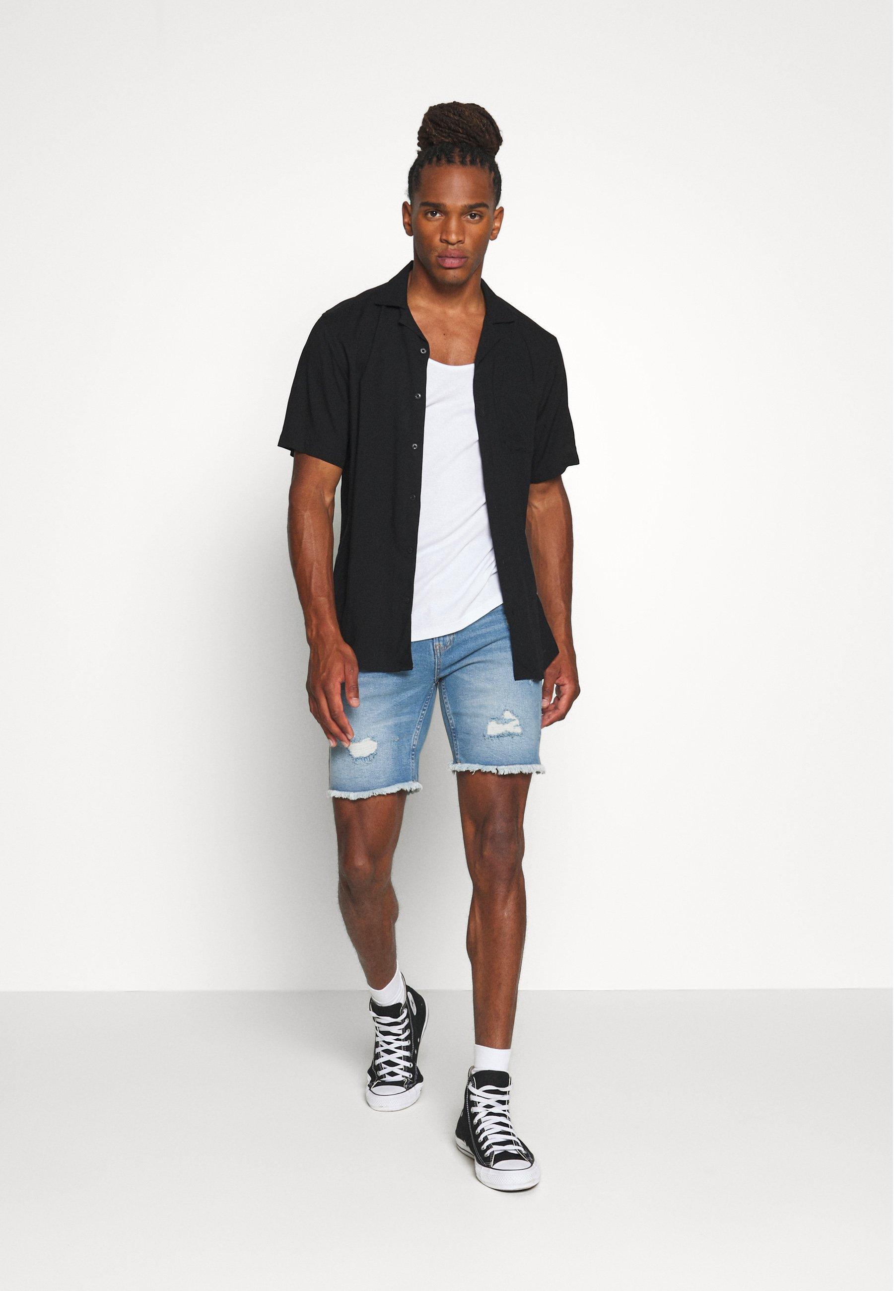 Uomo Shorts di jeans - blue heavy