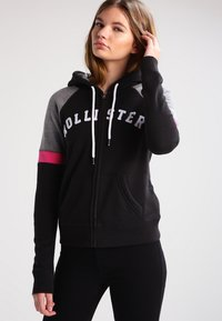Hollister Co. - CORE - Zip-up hoodie - black - 0