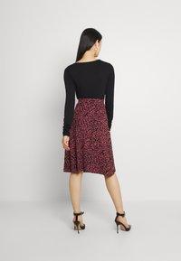 Even&Odd - A-line skirt - pink/black - 2