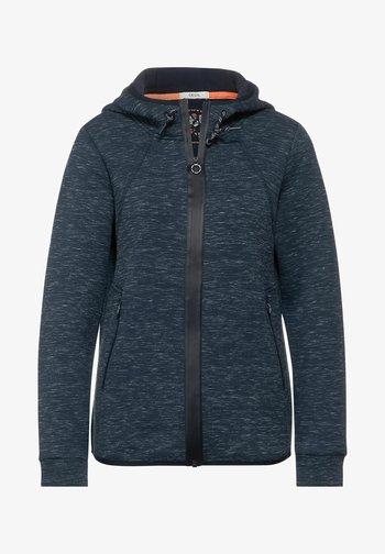 ATHLEISURE  - Zip-up sweatshirt - denim blue heather melange