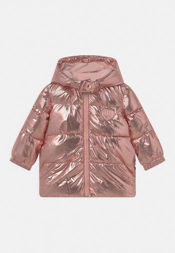 COATED HOODED PADDED ZIP UNISEX - Winter coat - rose