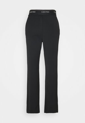 ELASTICATED WIDE LEG PANT - Trousers - black
